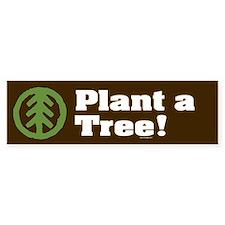 PLANT-A-TREE Bumper Car Sticker