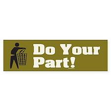 DO-YOUR-PART Bumper Bumper Sticker