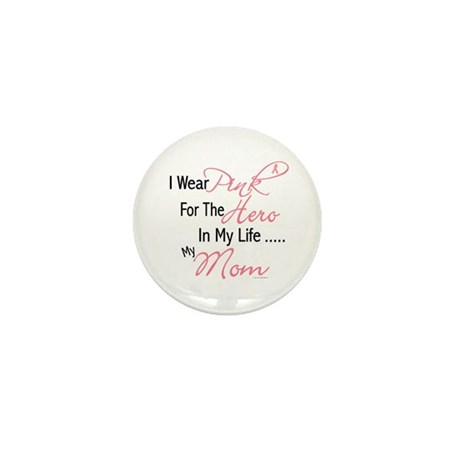 Pink For My Hero 1 (Mom) Mini Button (100 pack)