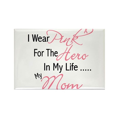 Pink For My Hero 1 (Mom) Rectangle Magnet