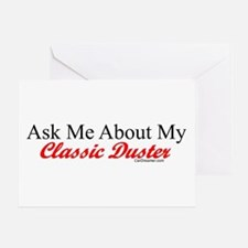 """Ask About My Duster"" Greeting Card"