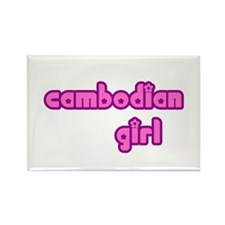 Cambodian Girl Cute Rectangle Magnet