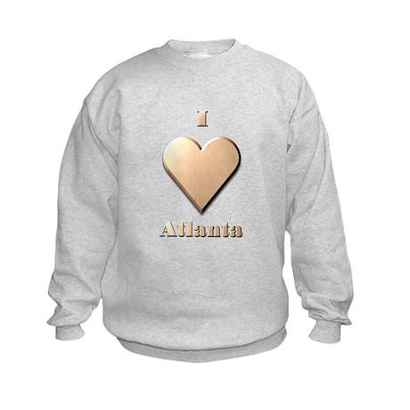 I Love Atlanta #8 Kids Sweatshirt