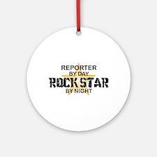 Reporter Rock Star Ornament (Round)