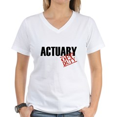 Off Duty Actuary Shirt