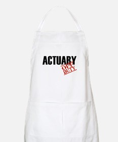 Off Duty Actuary BBQ Apron