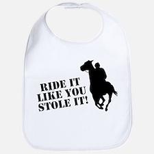 Ride it like you stole it! Horse racing Bib