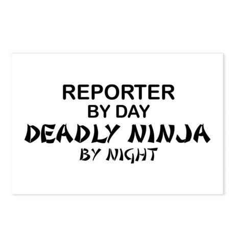 Reporter Deadly Ninja Postcards (Package of 8)