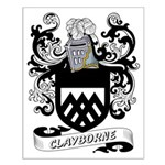 Clayborne Coat of Arms Small Poster