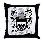 Clayborne Coat of Arms Throw Pillow
