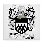 Clayborne Coat of Arms Tile Coaster