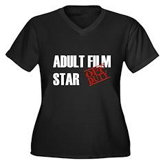 Off Duty Adult Film Star Women's Plus Size V-Neck