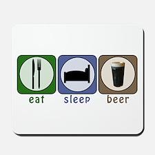 Eat Sleep Beer Mousepad