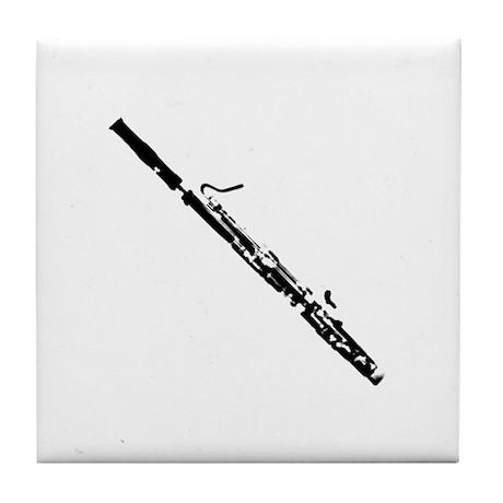 Bassoon With an Angle Tile Coaster