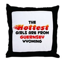 Hot Girls: Guernsey, WY Throw Pillow