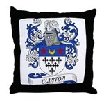Clinton Coat of Arms Throw Pillow