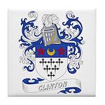 Clinton Coat of Arms Tile Coaster