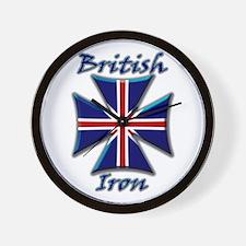 British Iron Maltese Cross   Wall Clock