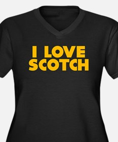 I Love Scotch Women's Plus Size V-Neck Dark T-Shir