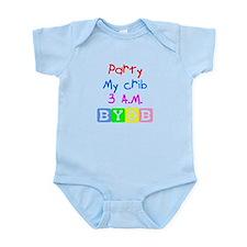 Party my crib Infant Bodysuit