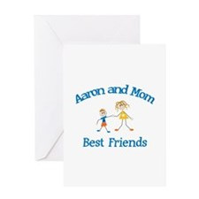 Aaron& Mom - Best Friends Greeting Card