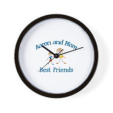 Aaron& Mom - Best Friends  Wall Clock