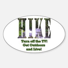 Go For A Hike Oval Decal