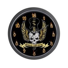 Head Banger Skull Wall Clock