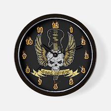 Head Banger Skull Wall Clock