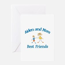 Aiden& Mom - Best Friends Greeting Card