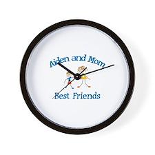 Aiden& Mom - Best Friends  Wall Clock
