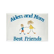 Aiden& Mom - Best Friends Rectangle Magnet
