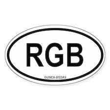 """Guinea-Bissau """"RGB"""" Oval Bumper Stickers"""