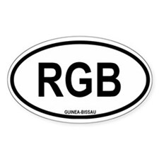 "Guinea-Bissau ""RGB"" Oval Decal"