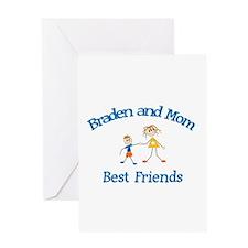 Braden& Mom - Best Friends Greeting Card