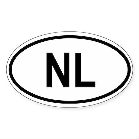 Netherlands (Holland) Oval Sticker