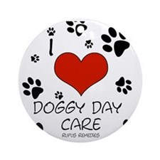 I Love Doggy Day Care 3 Ornament (Round)