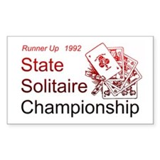 Solitaire Championship Rectangle Decal