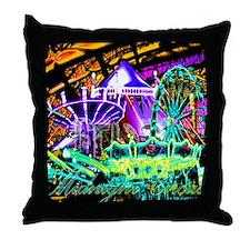 Midnight Circus Throw Pillow