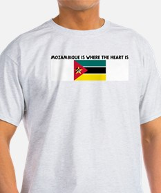 MOZAMBIQUE IS WHERE THE HEART T-Shirt
