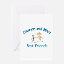 Connor& Mom - Best Friends Greeting Card