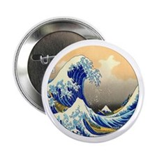 """Great Wave 2.25"""" Button"""
