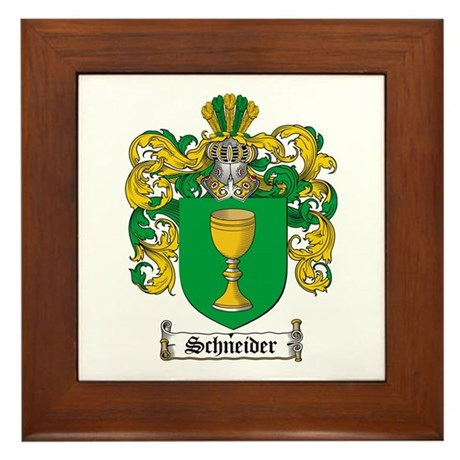 Schneider Coat of Arms Framed Tile