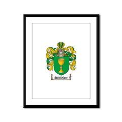 Schneider Coat of Arms Framed Panel Print