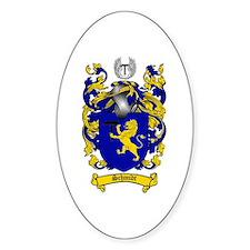 Schmidt Coat of Arms Oval Stickers