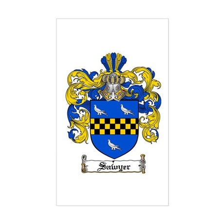 Sawyer Coat of Arms Rectangle Sticker