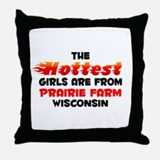 Hot Girls: Prairie Farm, WI Throw Pillow