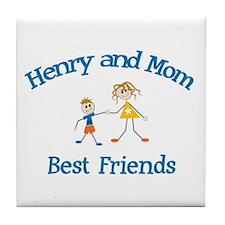 Henry & Mom - Best Friends  Tile Coaster