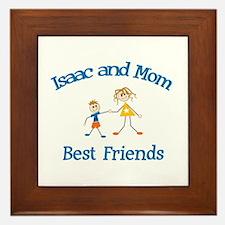 Isaac & Mom - Best Friends  Framed Tile