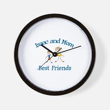 Isaac & Mom - Best Friends  Wall Clock